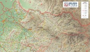 Harta Judetul Maramures - Melinda Steel