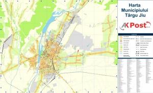 Harta Municipiul Targu Jiu - AK Post